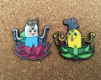 Adventure Time Finn and Jake Hat Pins