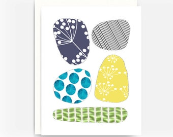 Blank Greeting Card, Note Card, A2 Card, Sticks and Stones Note Card No. 2