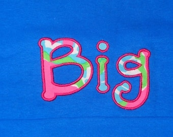Big Little Sorority Shirts -Sorority Family Tees - Lilly Pulitzer Sorority Shirts -  Big Little Reveal Sorority Gifts - Short Sleeve