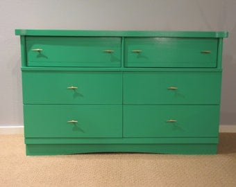SOLD - Green Mid-century Dresser/Changing Table