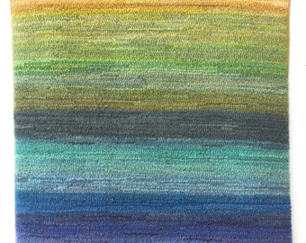 """Hand-hooked rug """"Rainbow Rag Rug"""""""