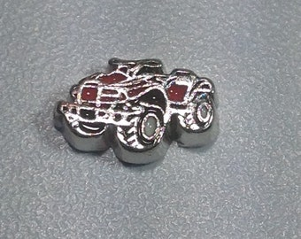 Red Motorcycle quad 4-wheel floating charm