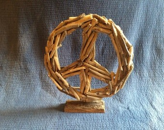 Sale!Driftwood Peace Sign Stand
