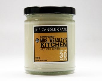 Mrs Weasley's Kitchen 8 Ounce Soy Wax Candle