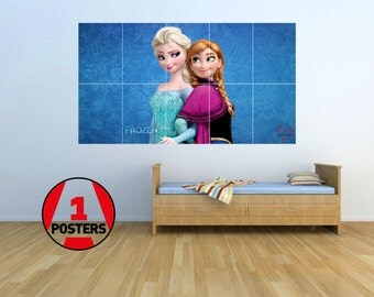 Frozen - Elsa and Anna - KIDS - Massive Wall Poster/Picture/Art 1.45m x 0.8m