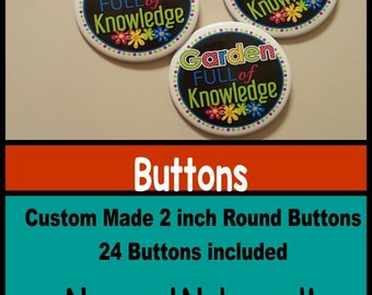 Buttons ~ Custom Made with round logos