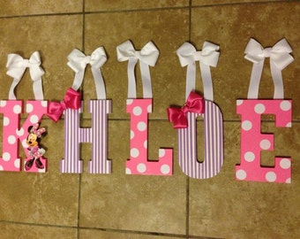 Made to order decorated wooden letters