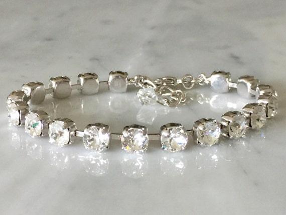 Swarovski Crystal Bracelet,  Crystal Bracelet, Crystal Tennis Bracelet, Crystal Bridesmaid Bracelet, Crystal Bridal Bracelet