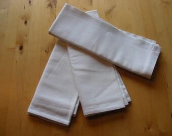 3 vintage white linen pillow cases