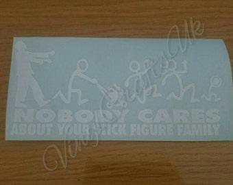 Walking dead stick family bumper sticker