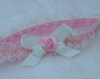 Pretty Pink All Lace Headband