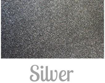 Fine Glitter Fabric - Silver