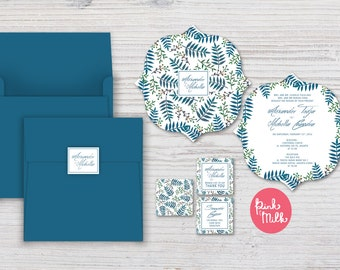 Bohemian Wedding Invitation