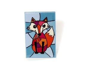 Magnet, fridge magnet, fox magnet, fox illustration
