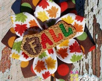 Fall Flower Clip
