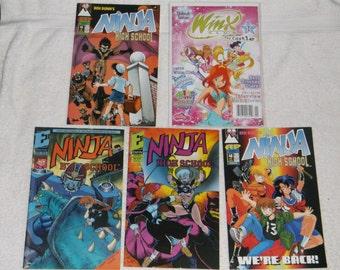 fantasy- manga comics-ninja high-lot of 5-1990s-GD