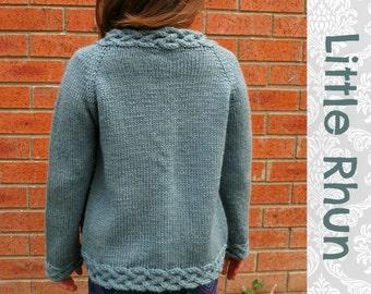 LITTLE RHUN Child Cardigan Knitting Pattern