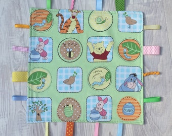 Tag Comfort Blanket made with Winnie The Pooh fabric