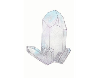 The Crystal Cluster Watercolor Art Print - 8.5x5.5
