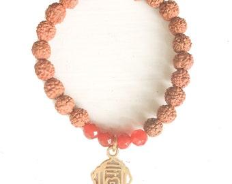 Root Chakra charm bracelet