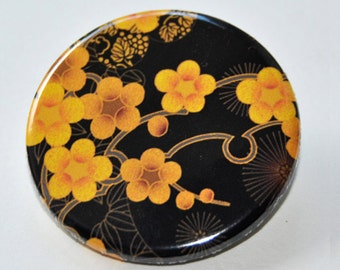 Flowers Button Badge (or magnet, bottle opener or pocket mirror)