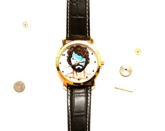 Sea in head - Hipster jewerly- Men's jewerly-Quartz Watch - Unique wrist watch -Unique assessories-Free shipping