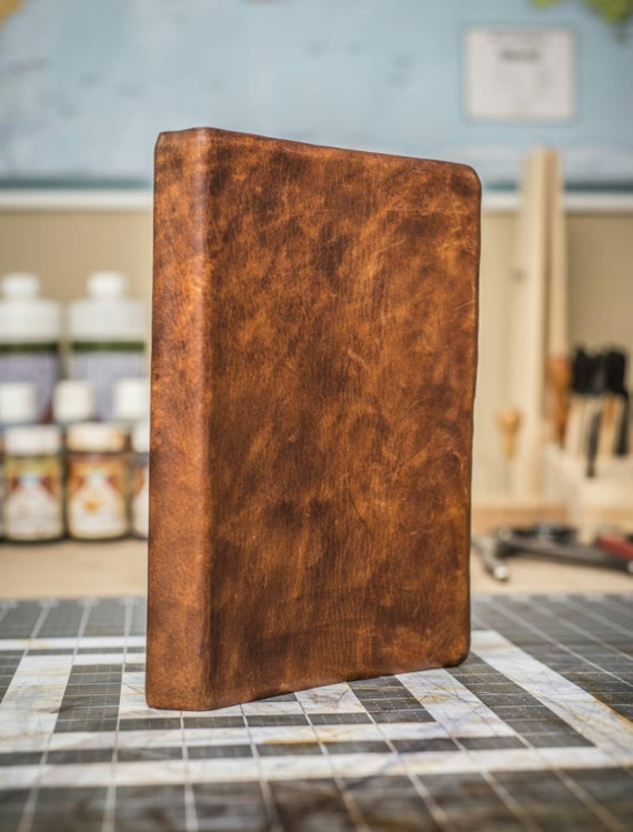ESV Study Bible--genuine cowhide leather, deep brown ...