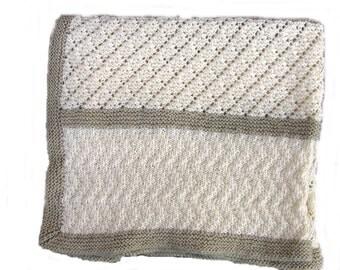 Baby Blanket Knitting Pattern Dimple By Biggerthanlifeknits