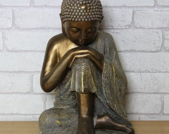 Bronze Resting Buddha Sculpture Statue  - Manufactured in Resin 337896