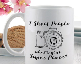 A Gift for a Photographer | Photography Super Power Mug | Coffee Mugs | Tea Mugs| Photography Gift Ideas