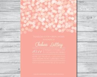 Champagne & Pink Bridal Shower Invitation, DIY Invitation, Digital Invitation, Custom Invitation, Bridal Shower