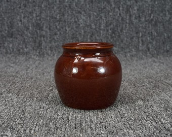 "Vintage Clay Pottery 3"" X 2.5"" Pot/Cup Maker Unknown"