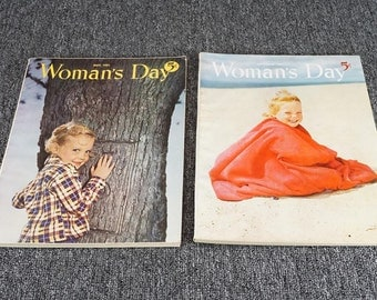 Vintage Collection Of Woman's Day Magazines Set Of 2 C.1951