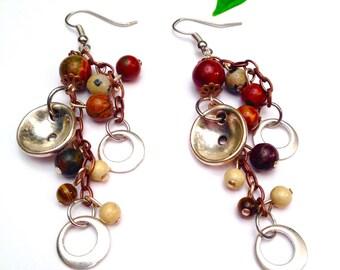 Jasper earrings and semi-precious Gemstones of all kinds Xtazik creations
