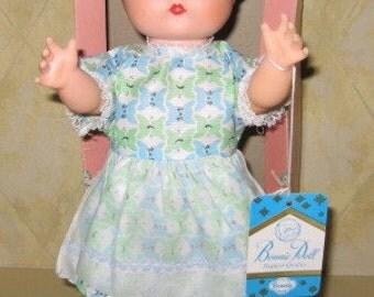 Bonnie Allied Grand vintage doll hard plastic rubber original box dress