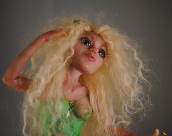 "OOAK polymer doll ""Lydia butterfly elf"""