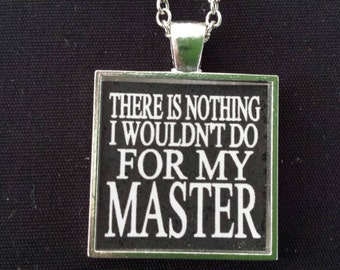 BDSM Submissive Jewelry Master Obedience Dom Sub Sir Slave D&S Kinky Fetish Lifestyle Necklace Consensual Position of Submission Jewelry