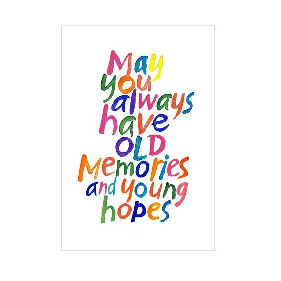 Happy Birthday Greeting Card Adults Half Fold Printable PDF