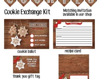 Cookie Exchange Invitations - Cookie Exchange Decorations - Cookie Exchange Party - Cookie Swap Invitation - Cookie Exchange Party Kit
