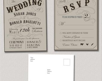 Steampunk Wedding Invitation
