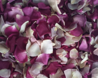 Freeze Dried Rose Petals, Colorful Petals, 10 cups of NATURAL rose petals.FOR DECORATION