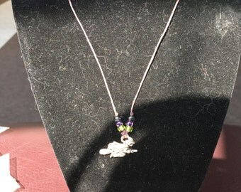 Witch Halloween charm necklace