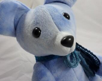 Blue Teddy Bear, Medium plush -- Furrmiliars
