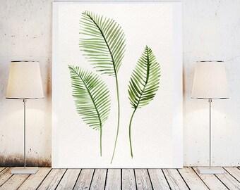 Botanical print, Plant print, Printable art, Botanical art, Printable wall art, Antique botanical, Leaf print, Watercolor print, Botanical