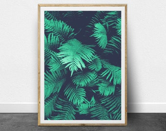 Tropical Print, Tropical Decor, Tropical Printable Art, Tropical Digital Art, Tropical Plant Print, Fern Print, Fern Leaf