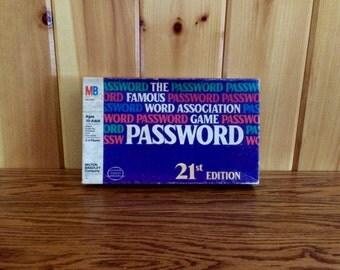 Vintage PASSWORD Game - Vintage Milton Bradley Game - Password