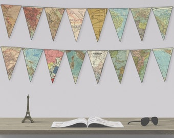 Instant Downloadable Map Bunting