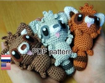 Crochet pattern Masked Friends