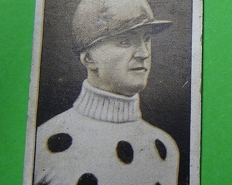 Vintage Cigarette Card ODGEN'S Steeplechase Celebrities 1931 #5 Very Good Condition for Age