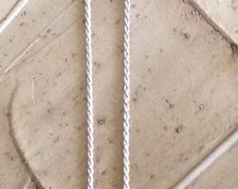 Sterling Silver Rope Chain 22 inches